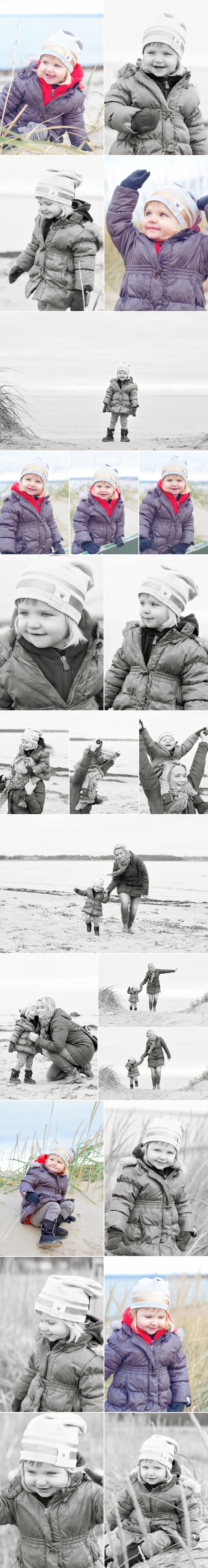 Freya familjefotografering stranden Pernillas Foto